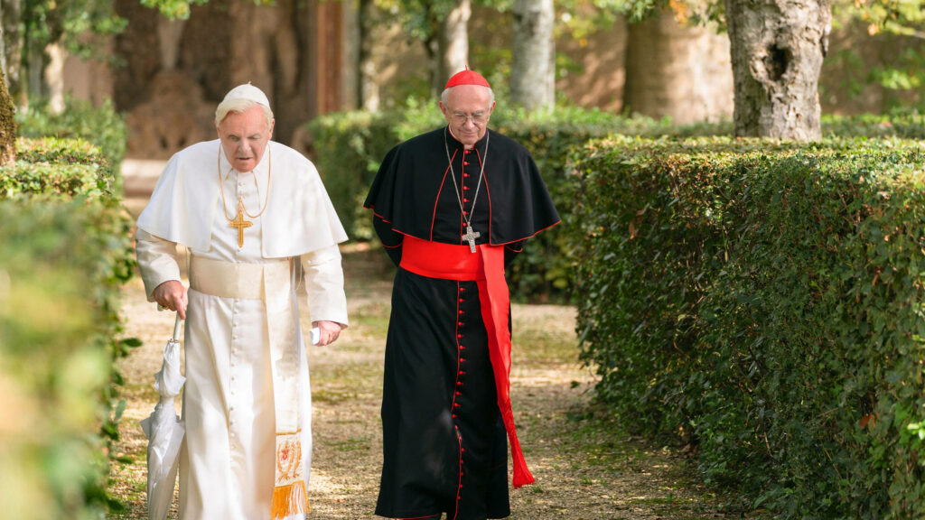 The Two Popes - Walking in the Garden