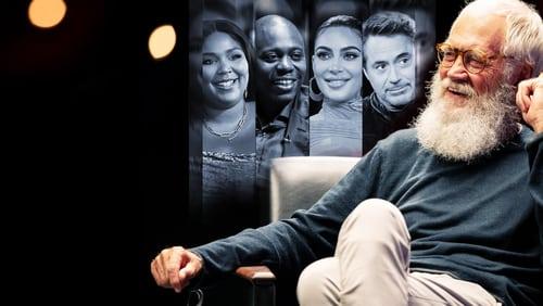 David Letterman - sitting in chair