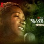 Man at a microphone. Title: Remastered: The Two Killings of Sam Cooke