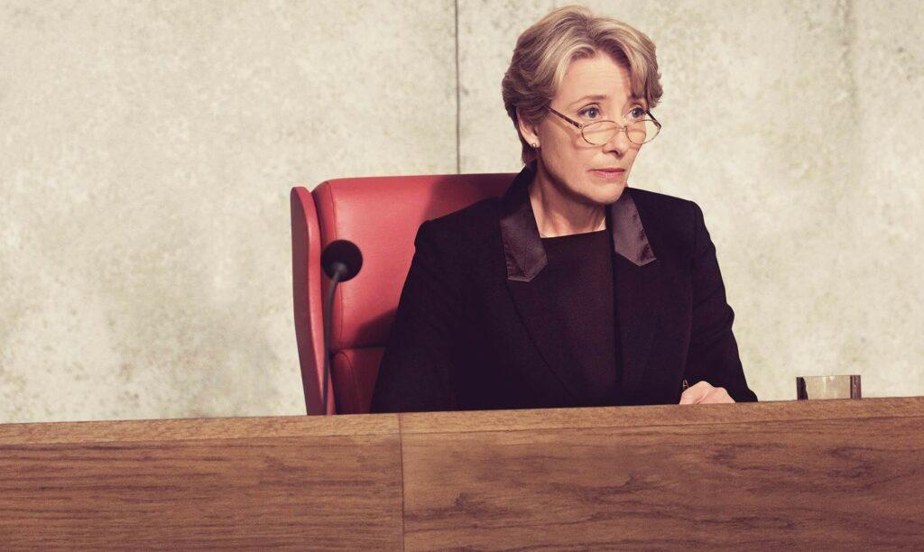 A female judge sitting in court