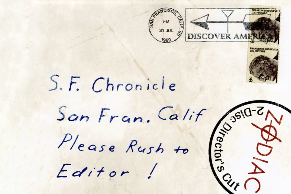 a photograph of an original letter mailed to the newspaper by the killer