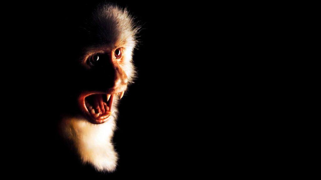 A screaming monkey